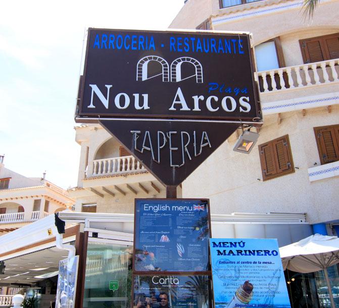 Contacto Restaurante Alicante Elche Nou Arcos